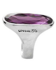 Anello Uno de 50 argentohandmade swarosky ametista ovale MOMBASA ANI0532MORMTL0L