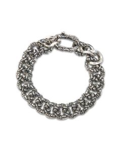 Bracciale Mariaeluisa catena argento brunito handmade BA0087