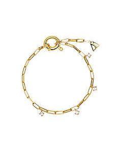 Bracciale Pdpaola argento dorato zirconi gina PU01-043-U