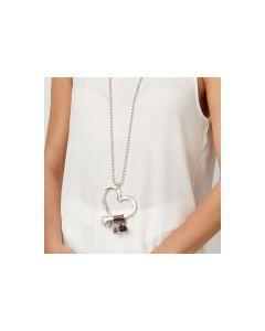 Collana Unode50 lunga argento handmade cuore Flechazo COL0474MTMR